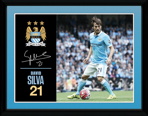 Manchester City Silva 15/16 Framed Collector Print