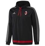 2015-2016 AC Milan Adidas Hooded Sweatshirt (Black)
