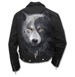 Wolf Chi - Lined Biker Jacket Black