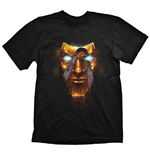 BORDERLANDS Men's Handsome Jack Golden Mask T-Shirt, Extra Large, Black