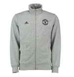 2015-2016 Man Utd Adidas Core BST Track Top (Grey)