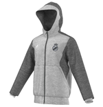 2015-2016 Real Madrid Adidas 3S Hooded Zip Top (Grey)