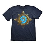 HEARTHSTONE Heroes of Warcraft Men's Rose Logo T-Shirt, Extra Extra Large, Dark Blue