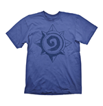 HEARTHSTONE Heroes of Warcraft Men's Vintage Rose Logo T-Shirt, Medium, Blue