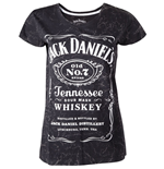 JACK DANIEL'S Classic Old No.7 Brand Logo with Marble Wash Women's T-Shirt, Small, Grey