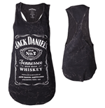 JACK DANIEL'S Classic Old No.7 Brand Logo with Marble Wash Women's Tanktop, Small, Black
