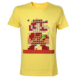 NINTENDO Super Mario Bros. Giant Mario 30th Anniversary Men's T-Shirt, Extra Small, Yellow