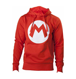 NINTENDO Super Mario Bros. Big Mario Logo Unisex Hoodie, Medium, Red
