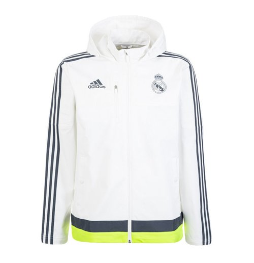 27ceb0d0c7a Buy Official 2015-2016 Real Madrid Adidas Travel Jacket (White)