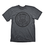 BIOSHOCK Columbia Customs & Excise 1907 Men's T-Shirt, Medium, Dark Grey
