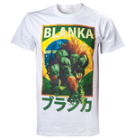 CAPCOM Street Fighter IV Blanka Character Men's T-Shirt, Medium, White