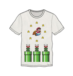 NINTENDO Super Mario Bros. Flying Mario Men's T-Shirt, Small, White