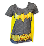 BATMAN Women's Sublimated Cape Costume Tee Shirt