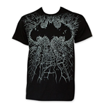 BATMAN Men's Black Shattered Logo Tee Shirt