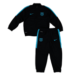 2015-2016 Barcelona Nike Little Boys Tracksuit (Black) - Kids