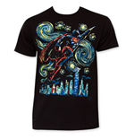 SUPERMAN Flying Starry Night Tee Shirt