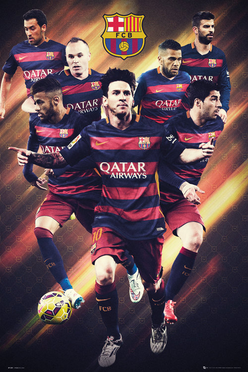 Barcelona Players 15/16 Maxi Poster