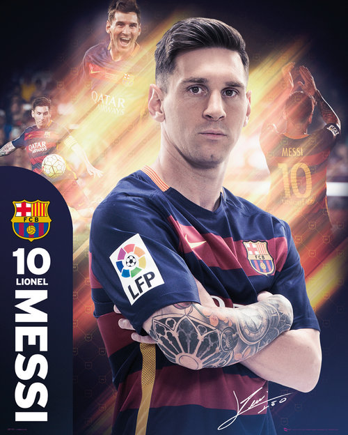 Barcelona Messi 15/16 Mini Poster