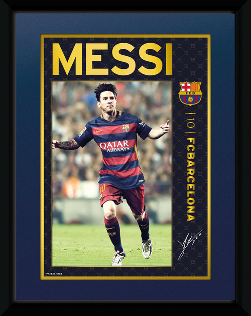 Barcelona Messi 15/16 Framed Collector Print