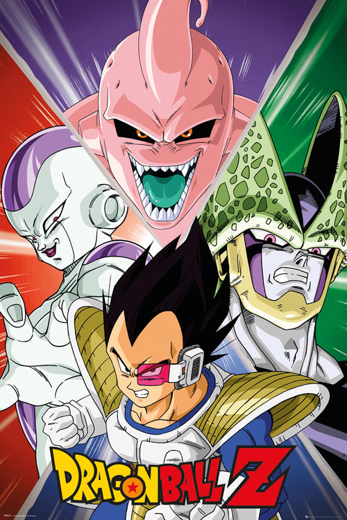 Dragon Ball Z Villain Maxi Poster