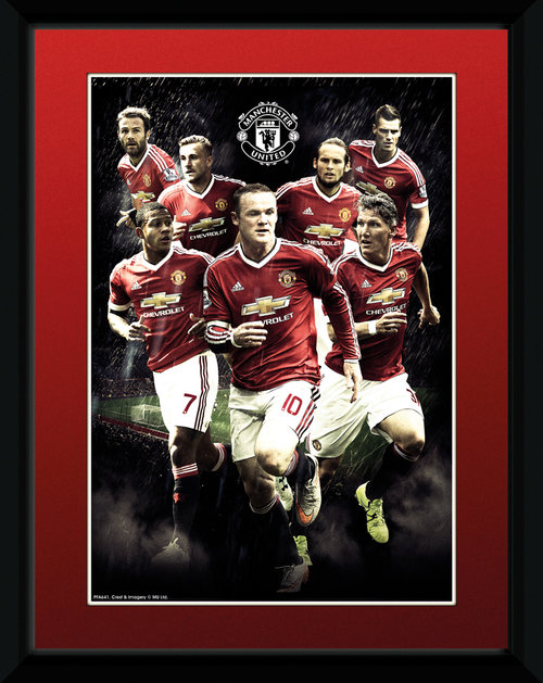Manchester United Players 15/16 Framed Collector Print