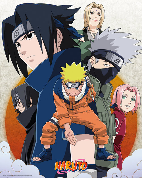 Naruto Clouds Mini Poster