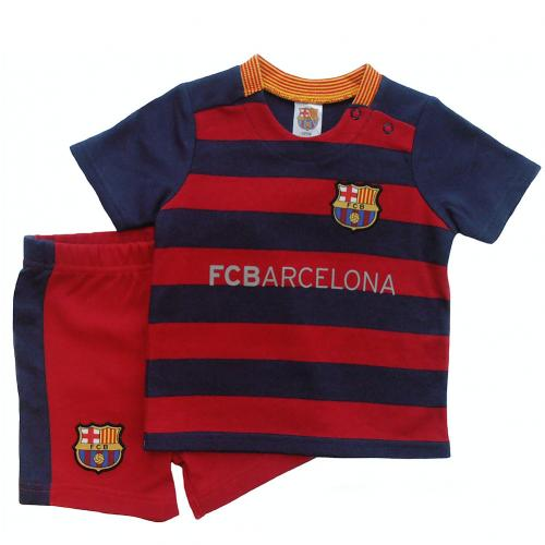 F.C. Barcelona Shirt & Short Set 6/9 mths