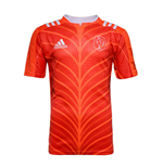 2015-2016 France Adidas Rugby Training Shirt (Red)