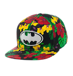 Batman Snap Back Baseball Cap Flower Print