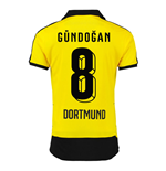 2015-16 Borussia Dortmund Home Shirt (Gundogan 8) - Kids