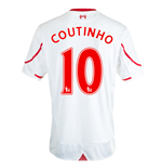 2015-16 Liverpool Away Shirt (Coutinho 10)