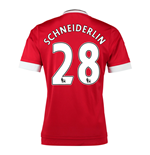 2015-16 Man United Home Shirt (Schneiderlin 28) - Kids