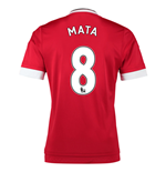 2015-16 Man United Home Shirt (Mata 8)