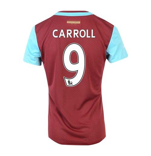 big sale 98f80 78089 2015-16 West Ham Home Shirt (Carroll 9)