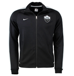 2015-2016 AS Roma Nike Authentic N98 Jacket (Black) - Kids