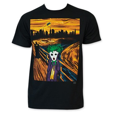 BATMAN Men's Black Joker Scream Tee Shirt