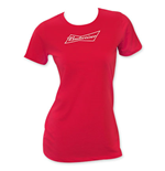 BUDWEISER Red Ladies T-Shirt