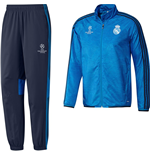 2015-2016 Real Madrid Adidas EU Presentation Tracksuit (Blue)