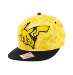 Pokemon Snap Back Baseball Cap Pikachu Camo