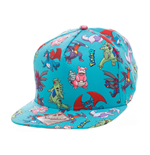 Pokemon Snap Back Baseball Cap Characters All Over
