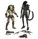 Alien vs. Predator Action Figure 2-Pack Renegade Predator vs. Big Chap Alien 18 cm