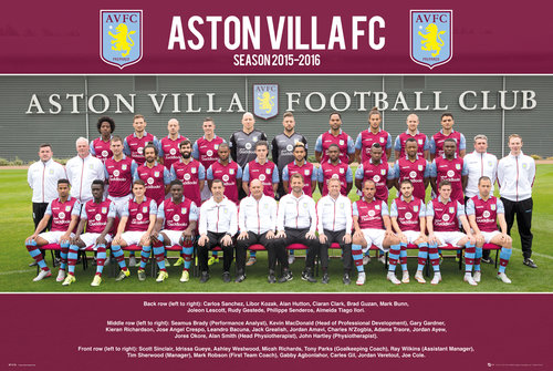 Aston Villa Team photo 15/16 Maxi Poster