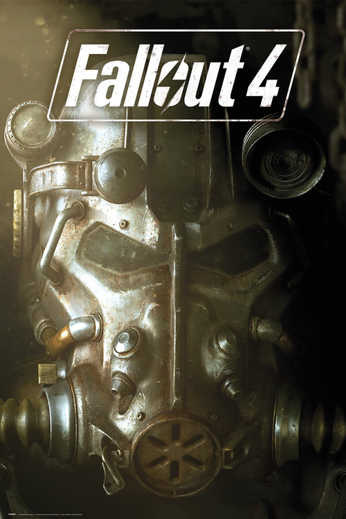 Fallout 4 mask Maxi Poster