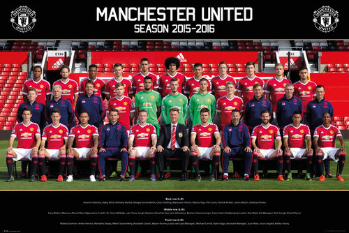 Manchester United Team Photo 15/16 Maxi Poster