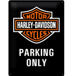 Harley Davidson Tin Sign Hd Parking Only 30X40CM