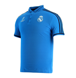 2015-2016 Real Madrid Adidas EU Polo Shirt (Blue)