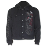 Demon Biker - Hooded Shacket Black