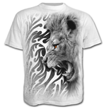 Tribal Lion - T-Shirt White