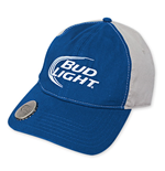 BUD LIGHT Two-Tone Blue And Gray Bottle Opener Hat