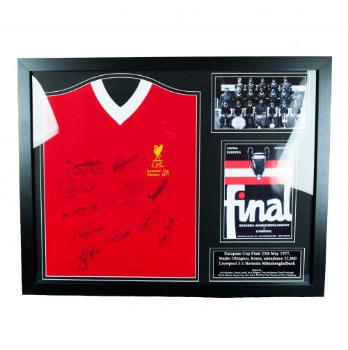 Liverpool F.C. 1977 European Cup Winners Signed Shirt (Framed)